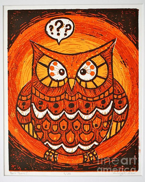 Hoo's There Print by Kimberly Wix