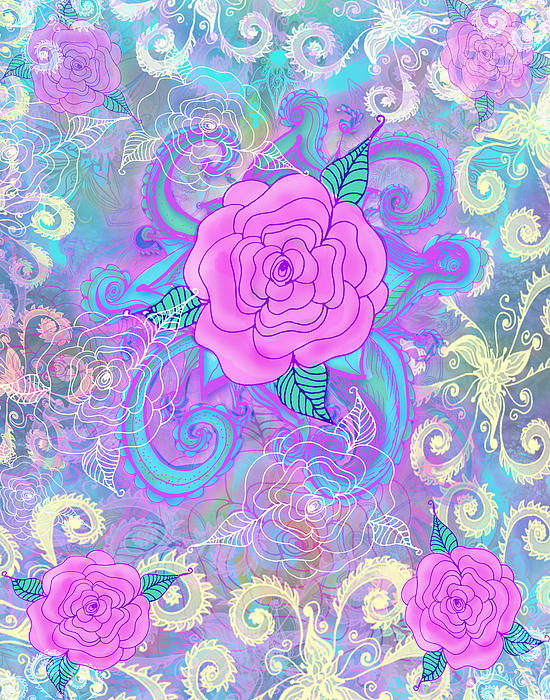 Hope Roses Print by Alixandra Mullins