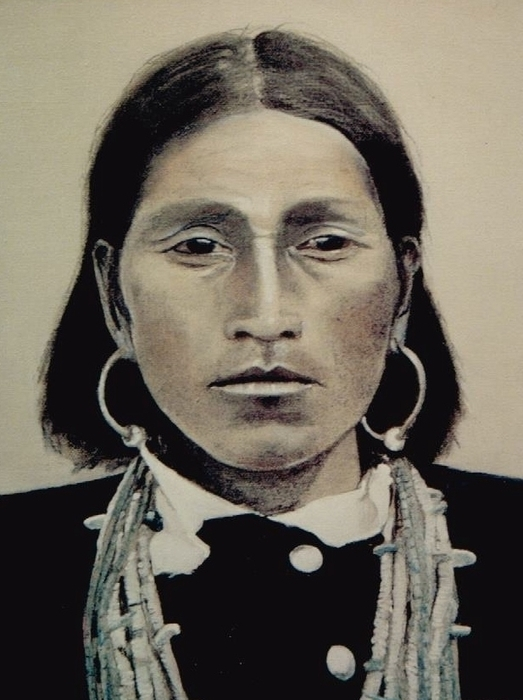 Hopi Woman Of The First Light Print by Terri Ana Stokes