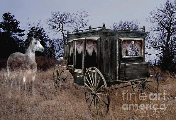 Horse And Carriage Print by Tom Straub