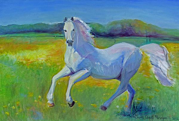 Horse Fancy Print by Gwen Carroll