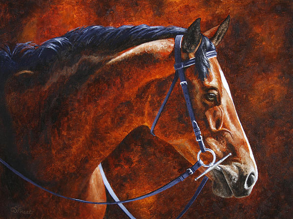 Horse Painting - Ziggy Print by Crista Forest