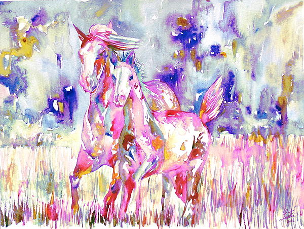 Horse Painting.16 Print by Fabrizio Cassetta