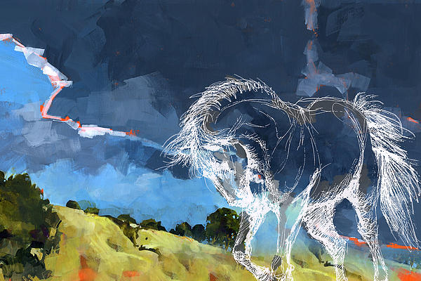 Horse Paintings 012 Print by Catf