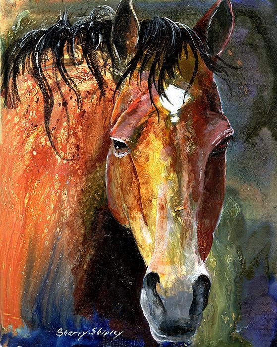 Horse Print by Sherry Shipley