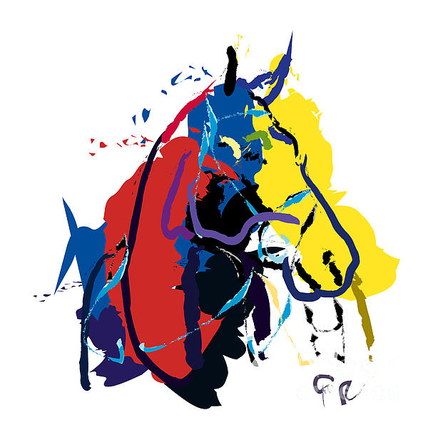 Horse- Zam Print by Go Van Kampen