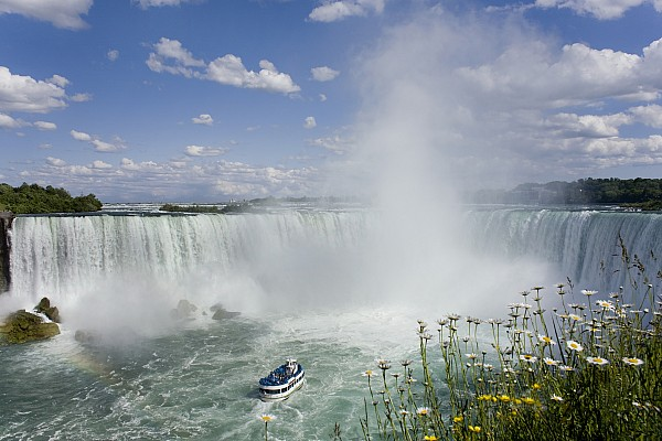 Horseshoe Falls With Maid Of The Mist Print by Peter Mintz