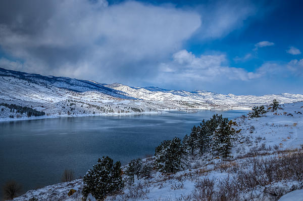 Horsetooth Reservoir Looking North Print by Harry Strharsky