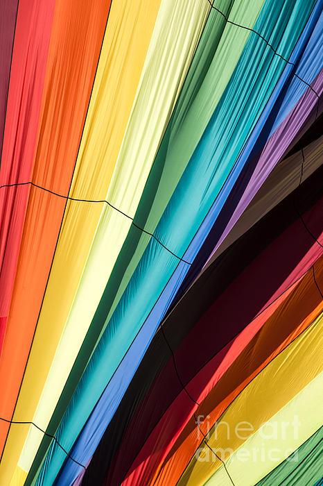 Hot Air Balloon Rainbow Print by Edward Fielding