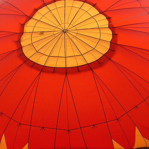 Hot Air Balloon At Dawn Print by Art Block Collections