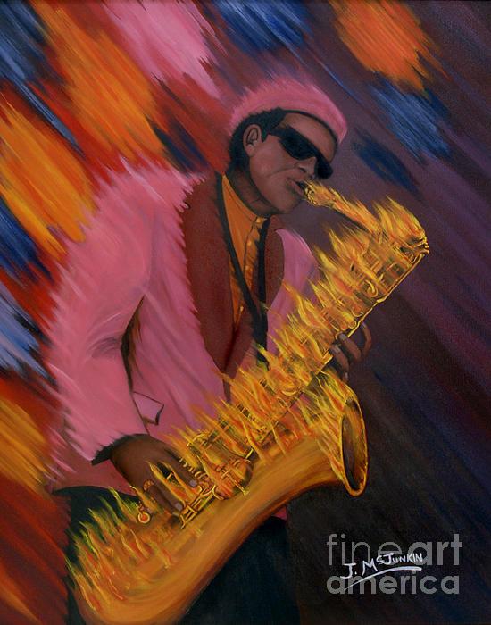 Hot Sax Print by Jeff McJunkin