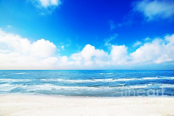 Hot Summer Beach Print by Michal Bednarek