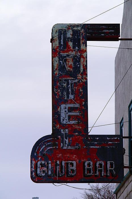 Hotel Club And Bar  Plentywood Montana Print by Jeff  Swan