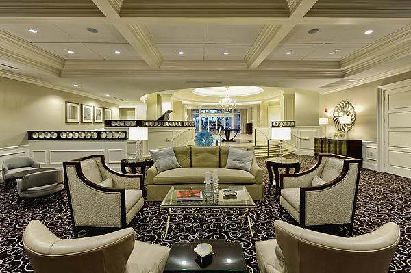 Hotel Lobby  Print by M Cohen