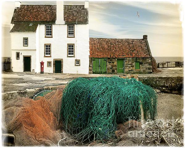 House On The Quay Print by Edmund Nagele