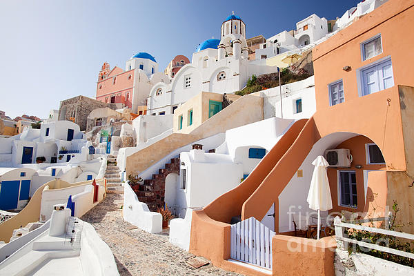 Housing Of Santorini Print by Aiolos Greek Collections