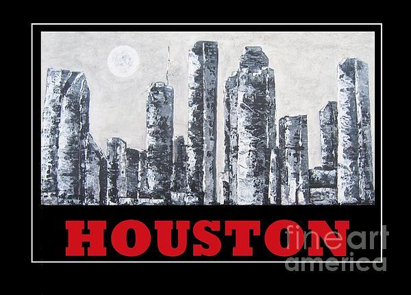 Houston Skyline 2 Print by Suzanne Theis