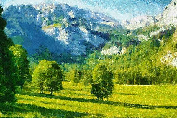 How Green Was My Valley Print by Ayse Deniz