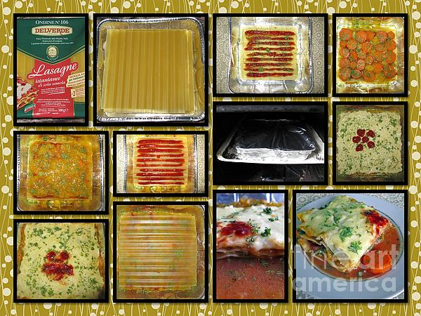 How To Make Your Own Vegan Lasagne Print by Ausra Paulauskaite