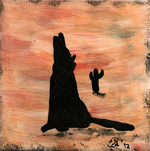 Howling At The Moon Print by Gail Schmiedlin