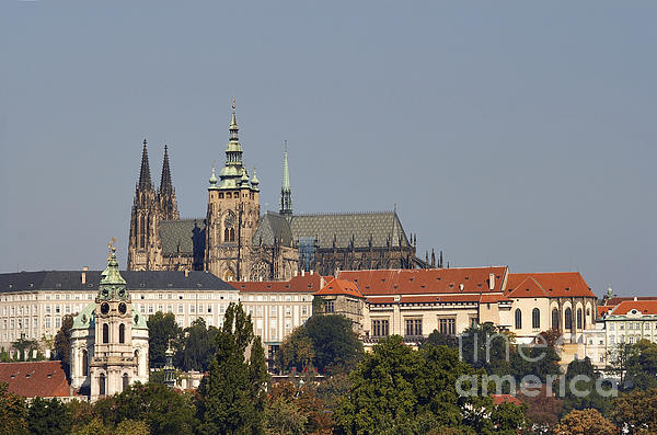 Hradcany - Cathedral Of St Vitus On The Prague Castle Print by Michal Boubin