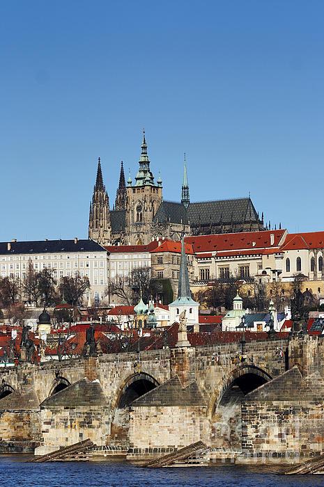 Hradcany - Prague Castle Print by Michal Boubin
