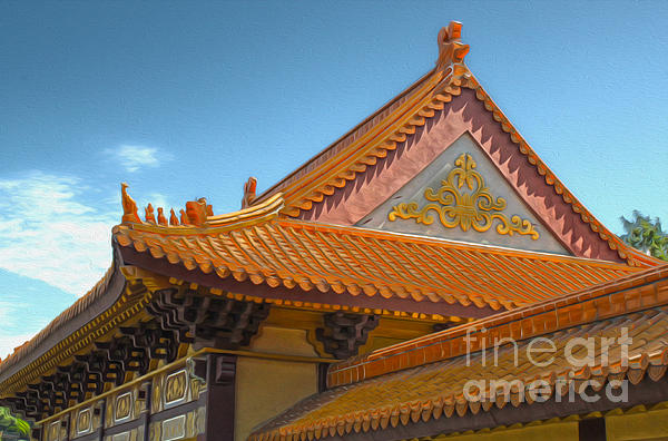 Hsi Lai Temple - 01 Print by Gregory Dyer