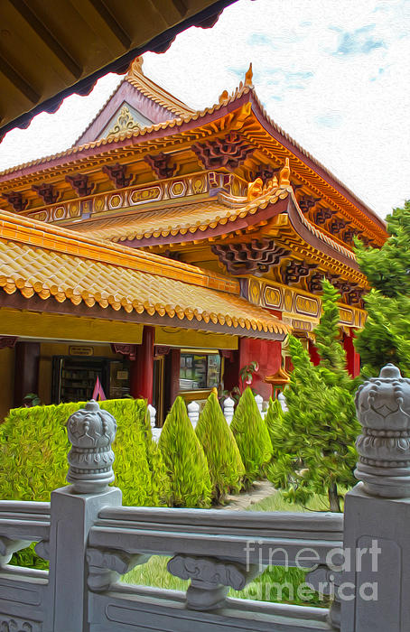 Hsi Lai Temple - 02 Print by Gregory Dyer