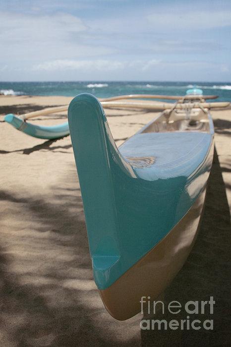 hui o waa Kuau Outrigger Canoe Paia Print by Sharon Mau