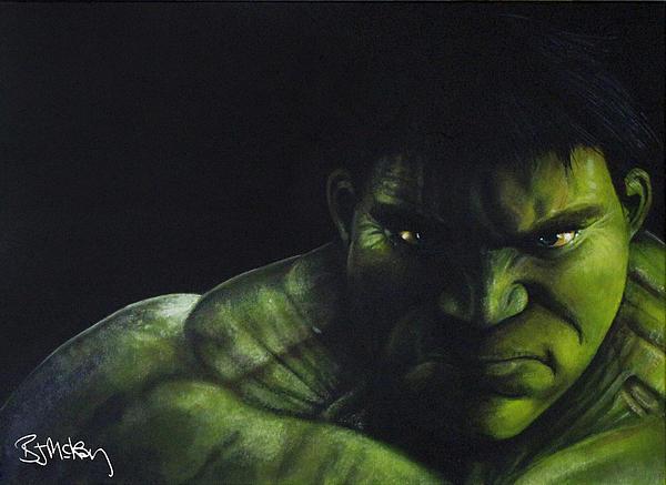 Hulk Print by Barry Mckay