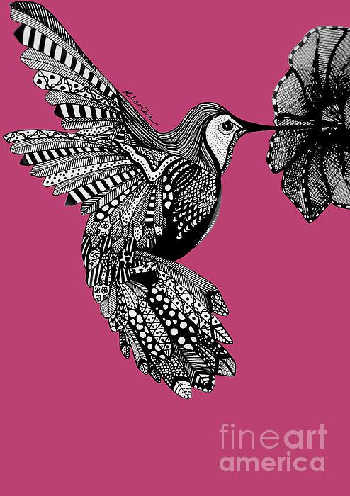 Hummingbird Flight 5 Print by Karen Larter