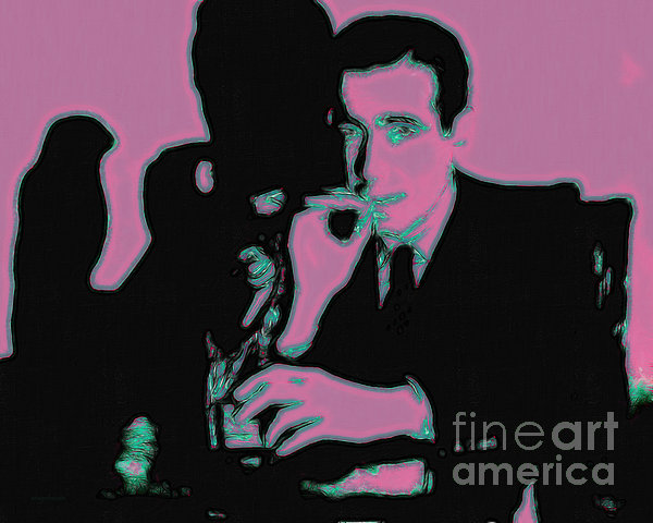 Humphrey Bogart And The Maltese Falcon 20130323m138 Print by Wingsdomain Art and Photography