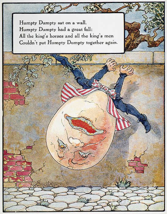 Humpty Dumpty, 1915 Print by Granger