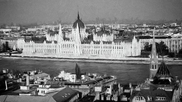 Joan Carroll - Hungarian Parliament Impressions BW
