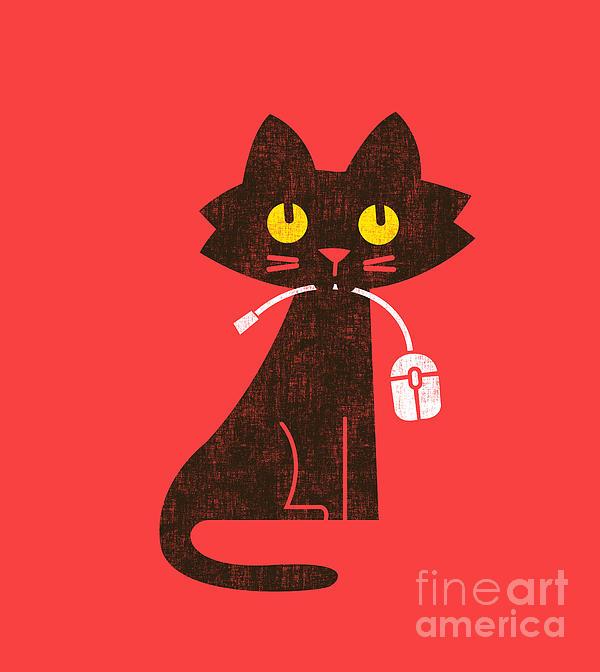 Hungry Hungry Cat Print by Budi Satria Kwan