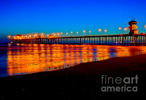 Jim Carrell - Huntington Beach Pier - Nightside