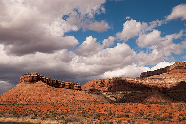 Hurricane Mesa And Dramatic Clouds Virgin Utah Print by Robert Ford