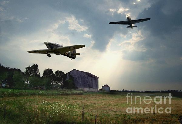 Hurricanes And The Donnelly Barn Print by Tom Straub