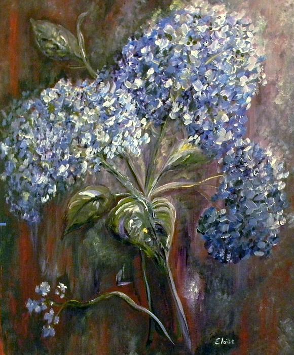 Hydrangea Bouquet At Dawn Print by Eloise Schneider
