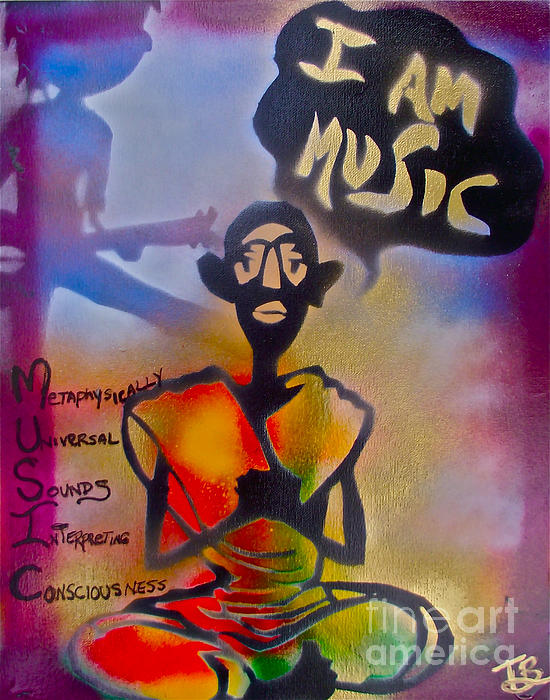 I Am Music #1 Print by Tony B Conscious