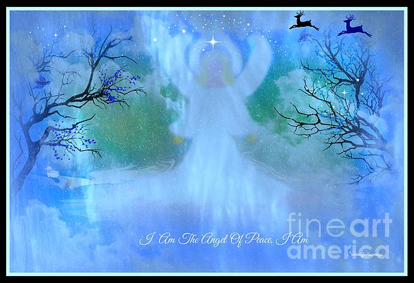 I Am The Angel Of Peace I Am Print by Sherri  Of Palm Springs