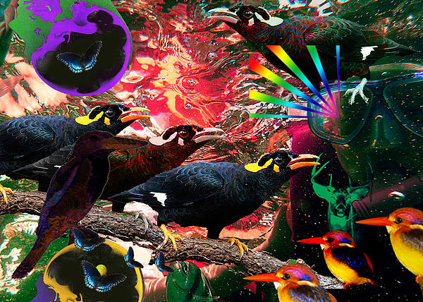 I An Unconscious Attempt To Trudge Boundaries I Was Surprised By Ordinary Uncommon Species  Print by Jonathan Benitez