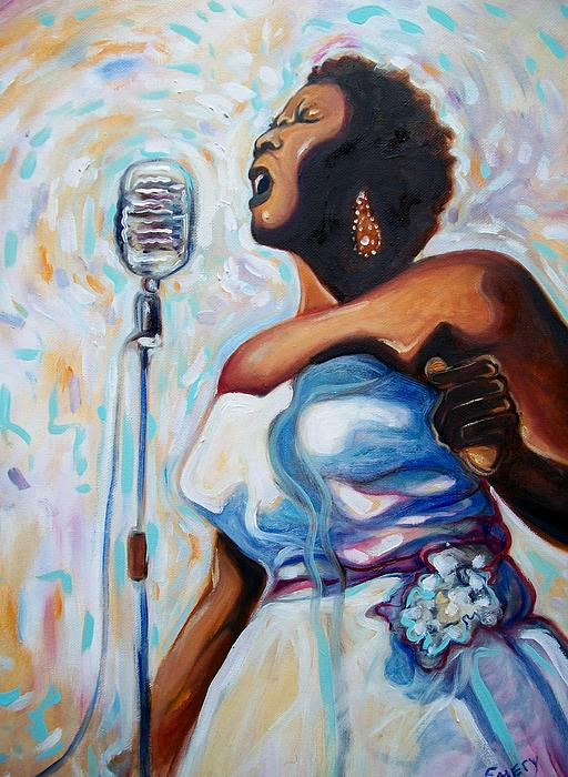 I Love The Blues Print by Emery Franklin