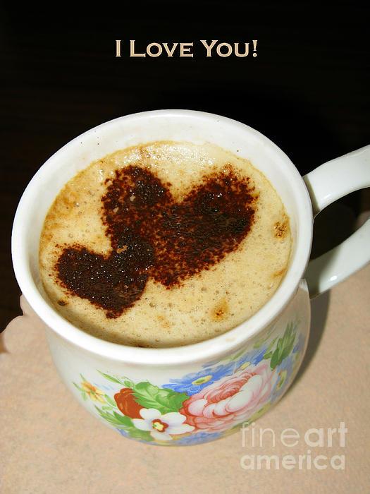 I Love You. Hearts In Coffee Series Print by Ausra Paulauskaite