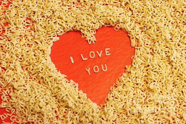 I Love You Print by Lars Ruecker