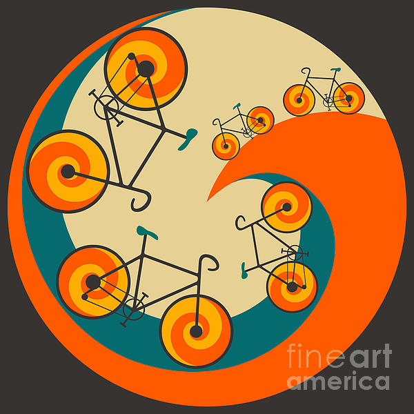 I Want To Ride My Bicycle Print by Jazzberry Blue
