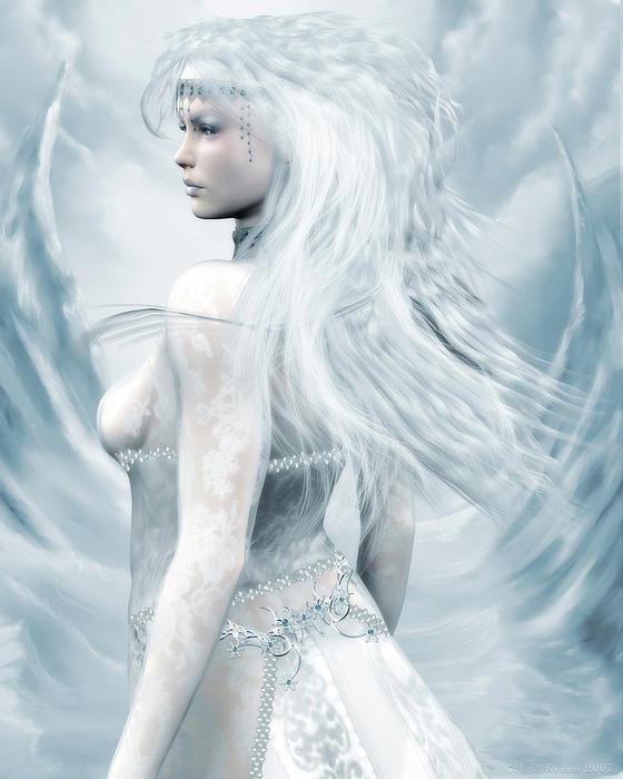 Ice Blue Print by Melissa Krauss