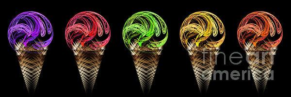 Andee Design - Ice Cream Cones 5 Flavors