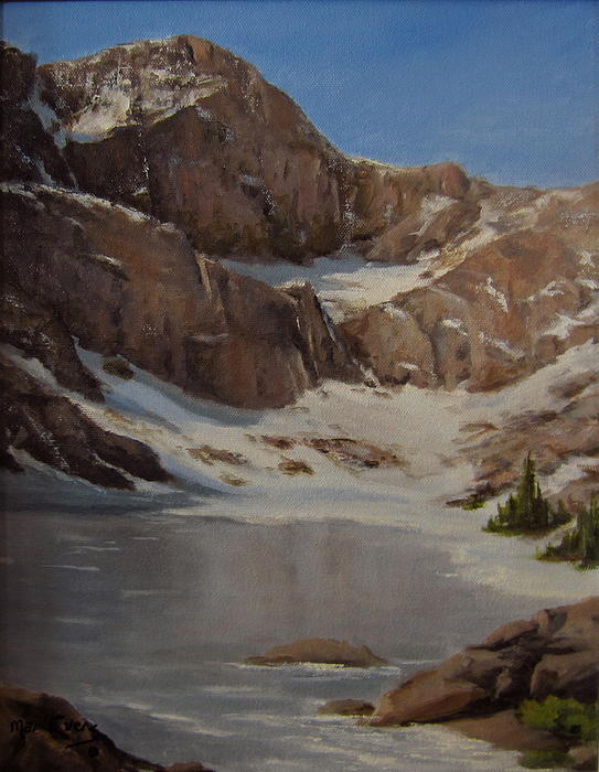 Ice Lake - July  Print by Mar Evers