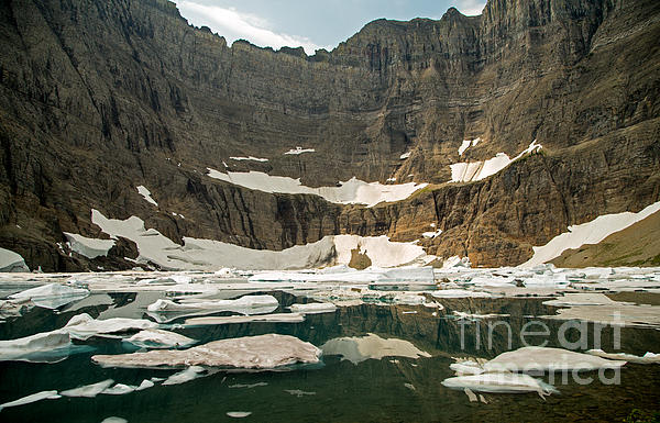 Iceberg Lake Print by Natural Focal Point Photography